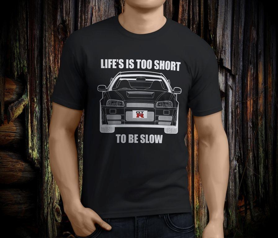 Nissan Skyline R34 Gtr Oh Du Hast V12 Das Ist Das Schwarze T Shirt Der Netten Männer Größe S 3xl T Shirt Sommer Berühmte Kleidung
