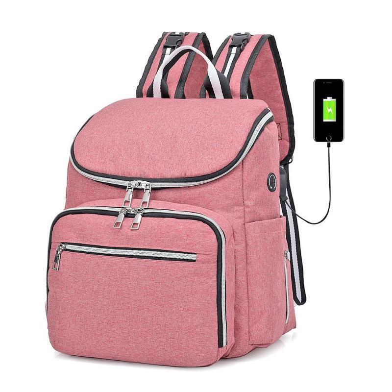 4be48d204 Compre Multi Função De Viagem Ao Ar Livre Sacos Mulheres USB De  Carregamento Mochila À Prova D 'Água Maternidade Grande Capacidade Sacos De  Smart78, ...