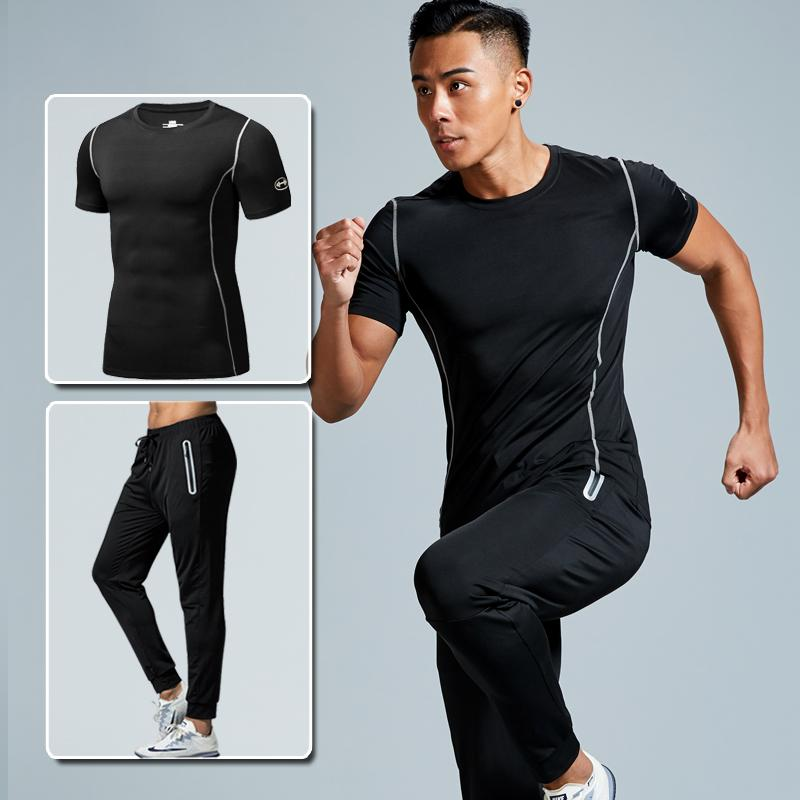 a16e03b70c1b6 2019 Men S Sportswear Fitness Relaxed Jogging Pants Men Sweatpants Outdoor Mens  Compression Clothing Tights Fitness Shirt Sports Suit From Pekoe