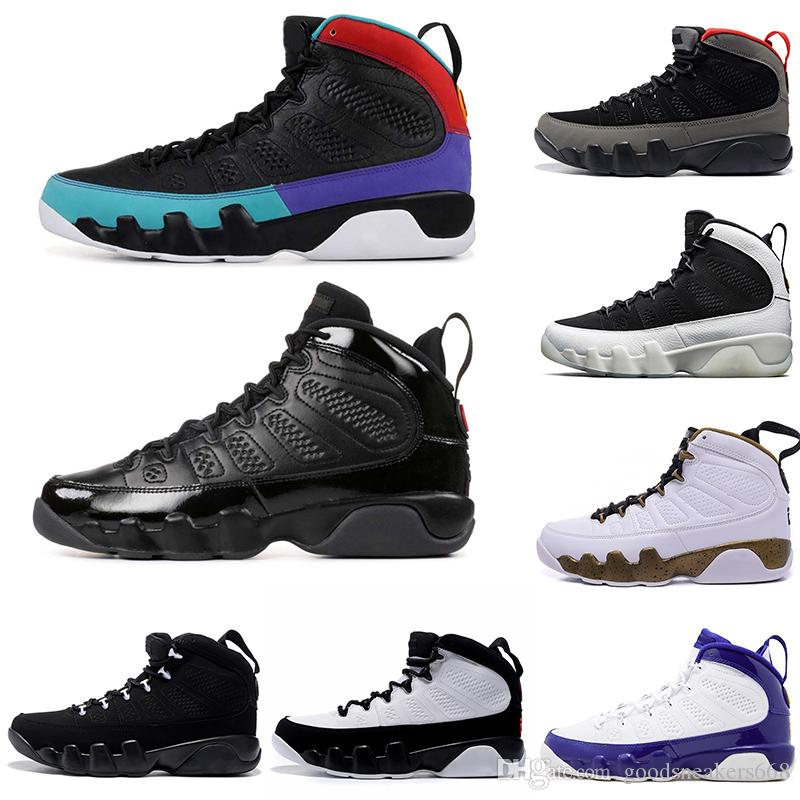 nike jordan 9 9s Neue Designer 9s Herren Basketballschuhe 2010 Release Dream It Do It Anthrazit Lakers PE züchtete Männer Sneakers Schuhe 7 13