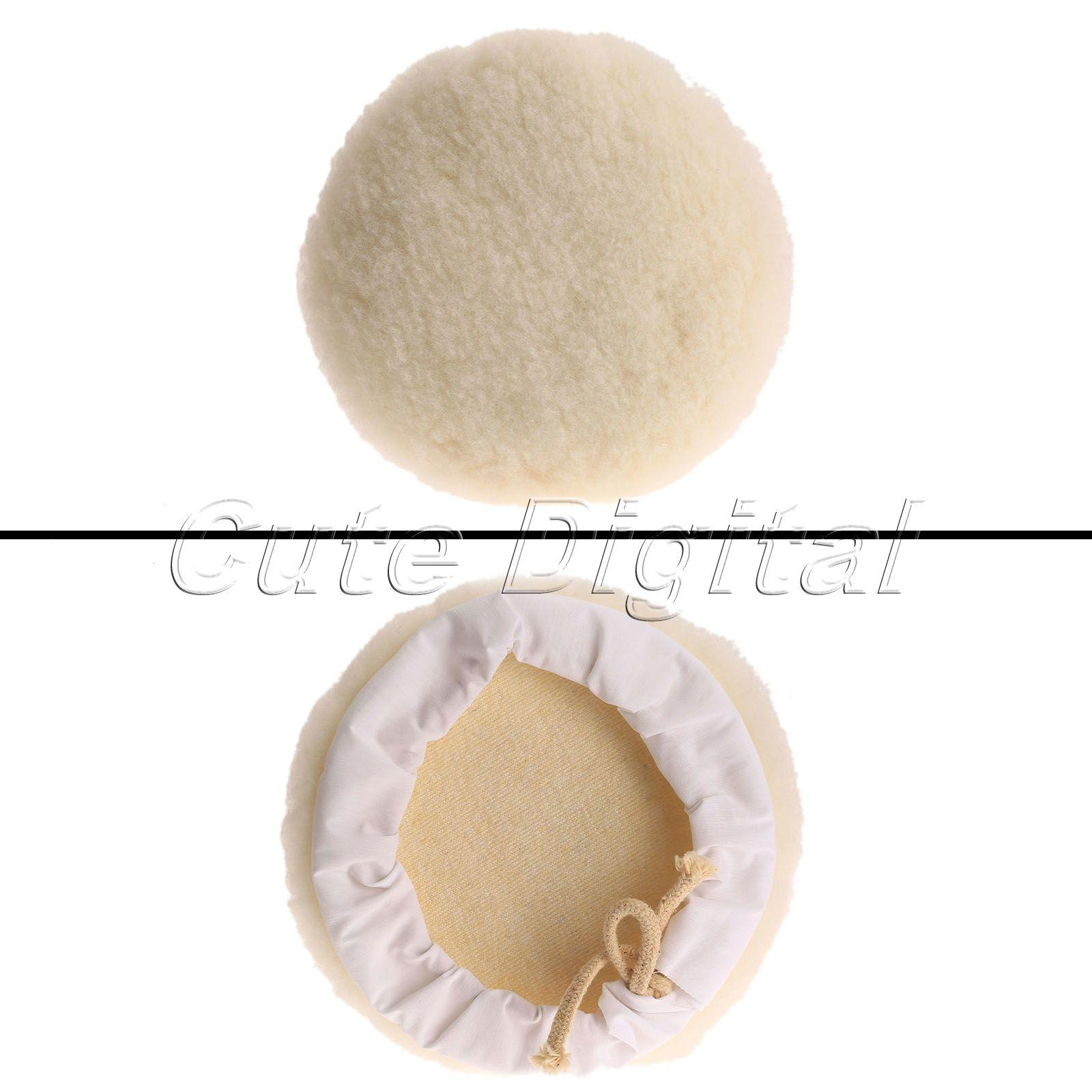 1Pc 180mm Wool Buffing Polisher Buffer Waxing Buffing Polishing Pad Car  Tool For Car Care Dremel Accessories