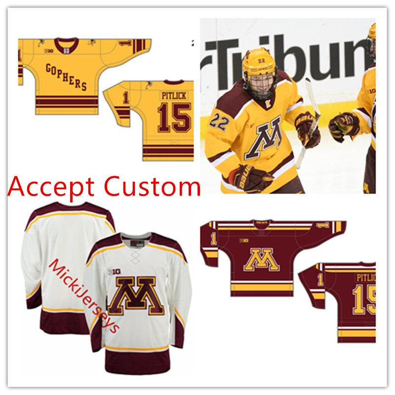 pretty nice ef8a5 84667 Men Custom NCAA Minnesota Golden Gophers Hockey Jersey Casey Mittelstadt  Tyler Sheehy Sampo Ranta Mat Robson Minnesota Golden Gophers Jersey