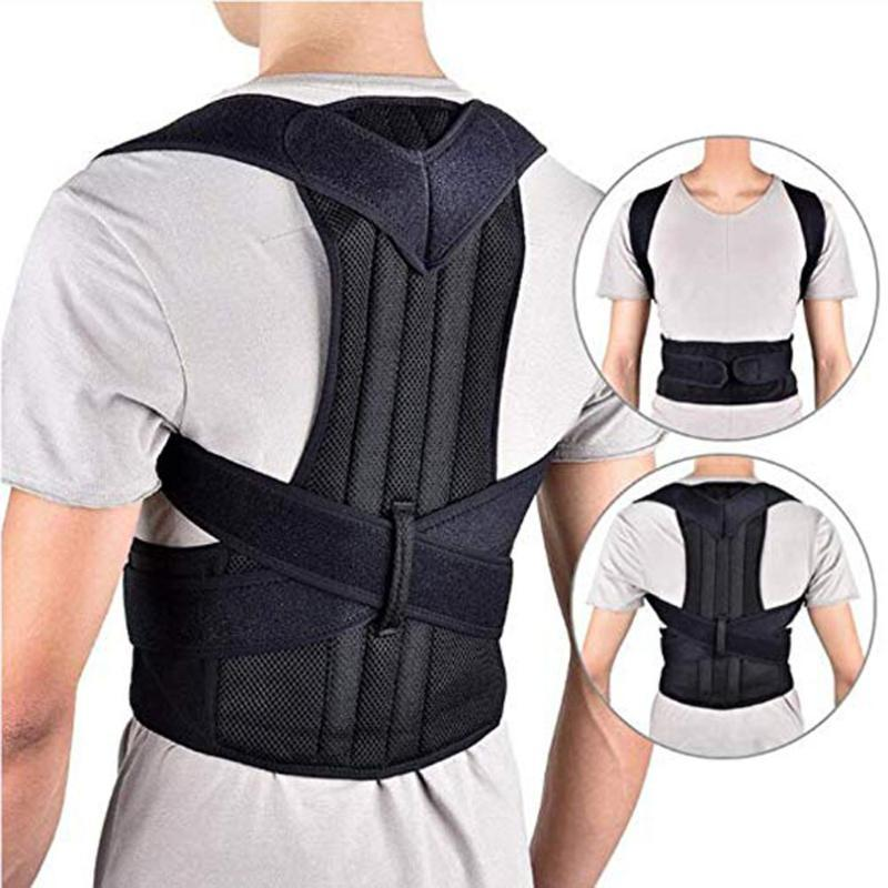 Unsiex Men Women Adjustable Magnetic Posture Corset Back Support Belt Lumbar Sports Support Safety Straight Corrector 3XL