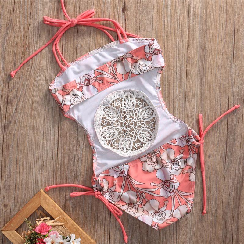 Jugendliche Baby Girl Child Splice Hohle Net Swimwear Verband Bikini Badeanzug Badeanzug Schwimmen Outfits