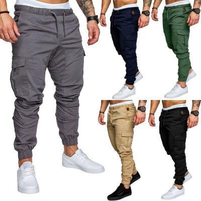 812c958717 2019 explosion models men's 6 color tooling multi-pocket trousers men's  woven fabric casual pants beam pants