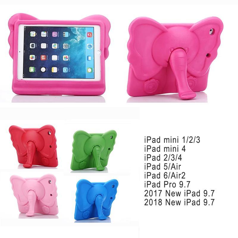 61ac802a74 For ipad mini case kids Cute elephant Cartoon 3D Protective Non-toxic EVA  Foam Shockproof Stand Cover For ipad mini 1 2 3 4