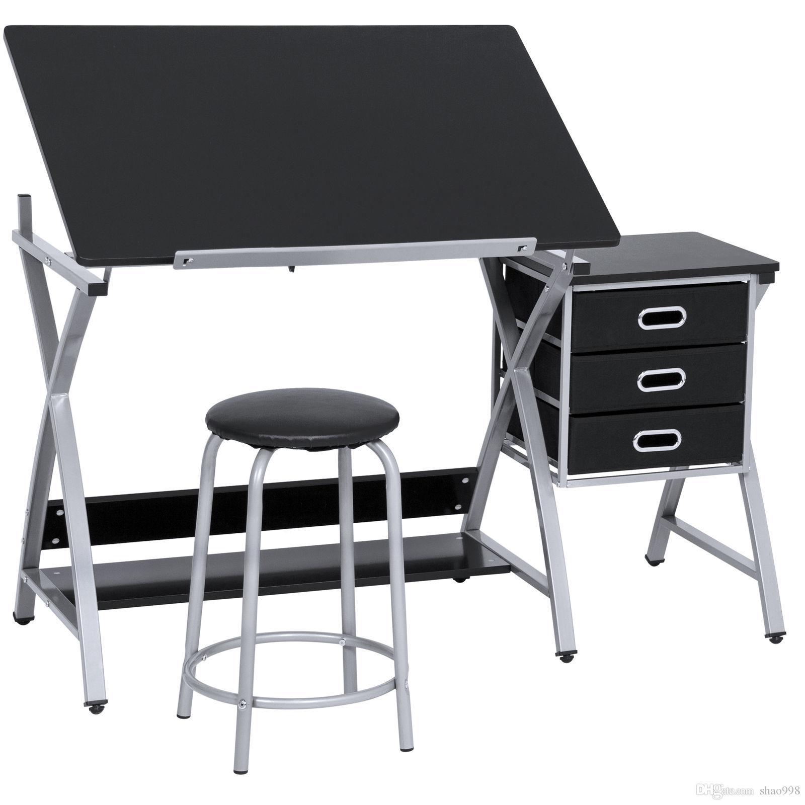 Compre Mesa De Dibujo Ajustable Para Oficina, Mesa De Dibujo, Juego ...