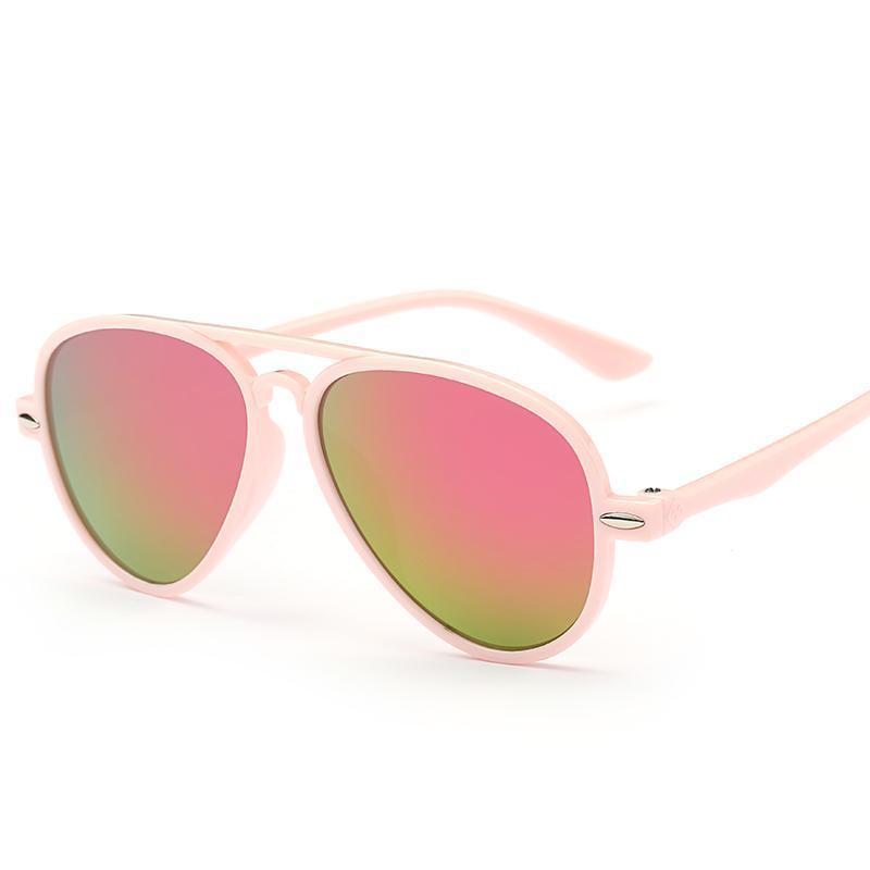 Acheter 2018 Lunettes De Soleil Pour Enfants Enfants Garçons Filles Cool  Miroir Mignon Cadre De Bébé 100% UV400 Anti UV Mode Lunettes De Soleil  Lunettes De ...