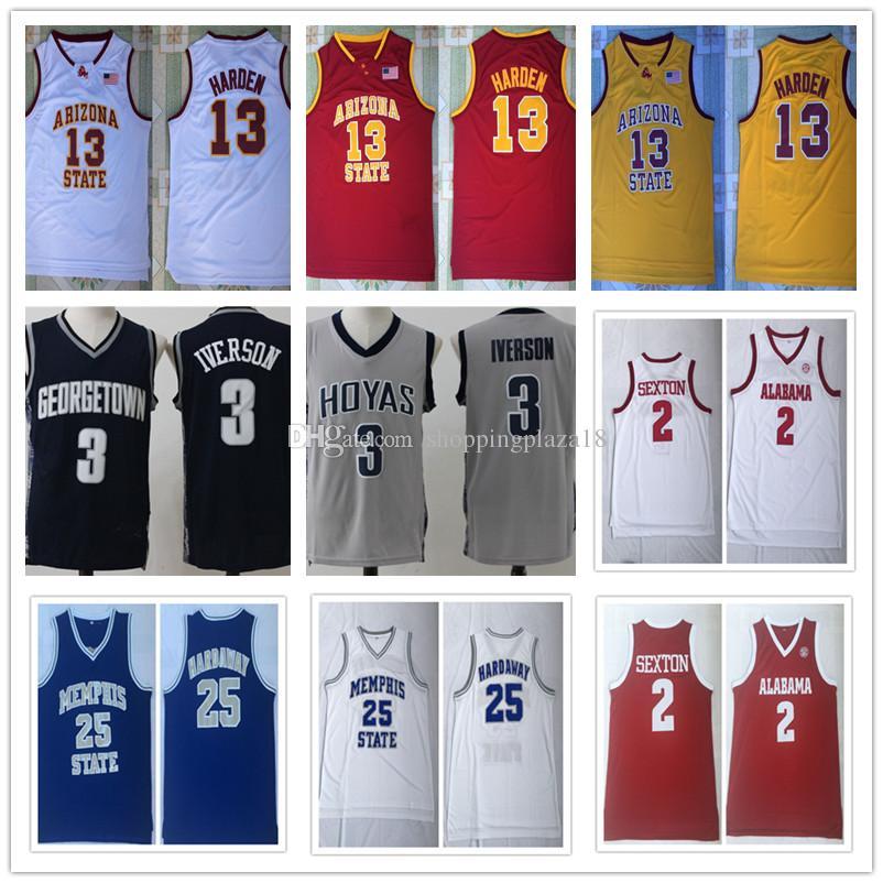 3c00b32d7 NCAA Men s 13 James Harden 3 Allen Iverson 2 Collin Sexton 25 Penny ...