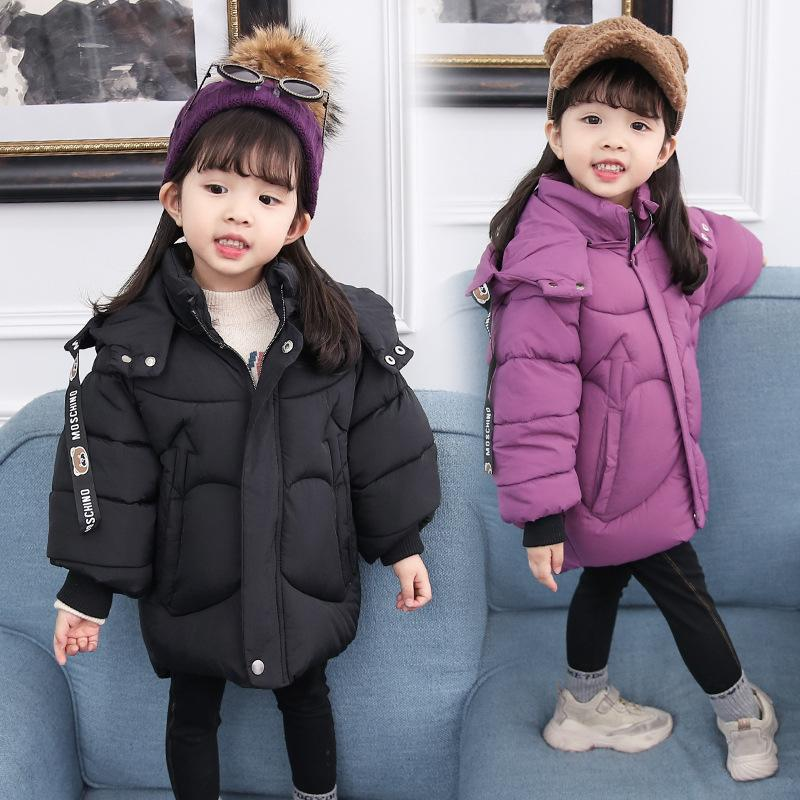 fashion Winter Jackets Girls boys Outfit Warm Coat bear ear Hooded Heart shaped pocket Thick bread clothing