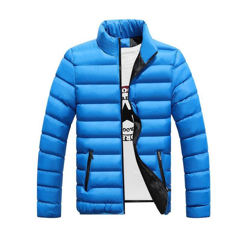 Top Fashion Winter Men's Cotton-padded Solid Color M0nclller Long Sleeved Outerwear Men Down Jackets Thin Slim Fit Coats Mens Coats