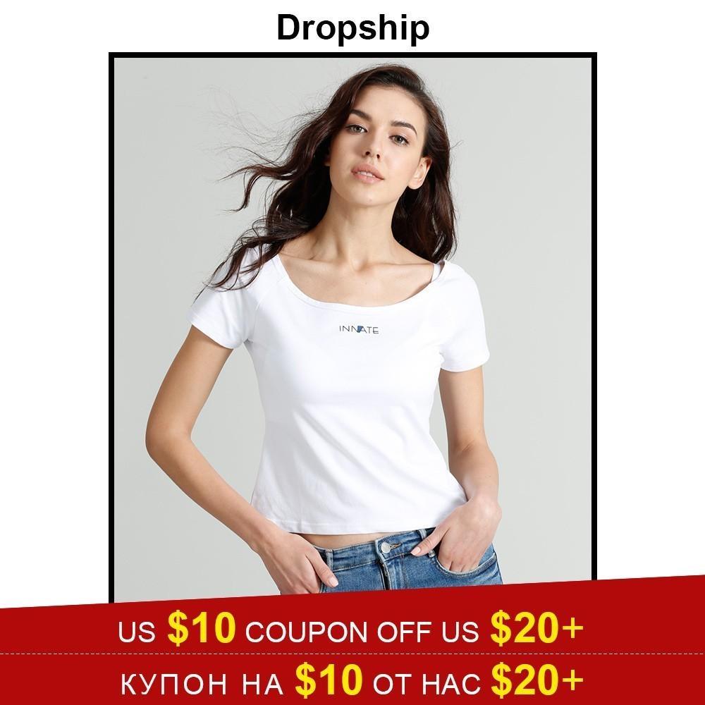 d9b394af Dropship T Shirt Tshirt Women Cold Shoulder Streetwear Tops 2019 Shirts  Modis Crop Top Womens Tops Slim Fit Summer Short Sleeves Patriotic T Shirts  Funny ...