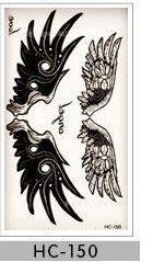 harajuku waterproof temporary tattoos for men women Couples simple 3d bird design flash tattoo sticker HC1060