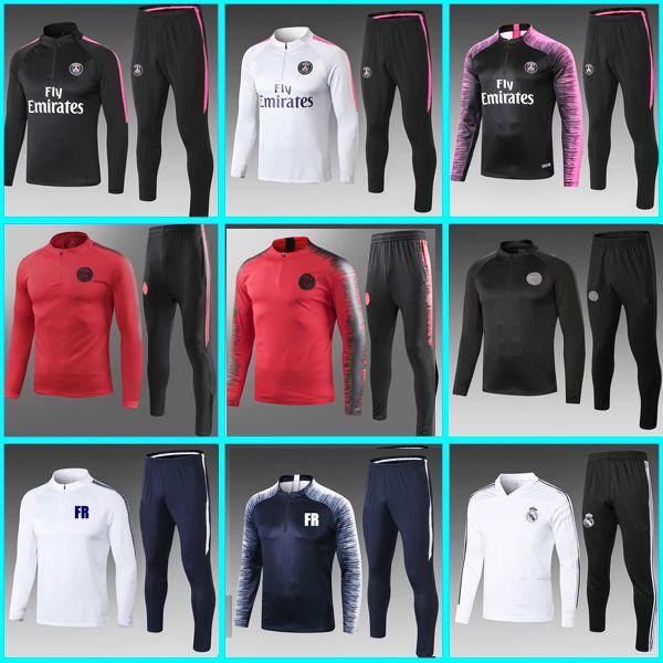 hot sale online closer at best Psg Training suit 2018 2019 psg soccer Tracksuit Sets paris saint germain  MBAPPE juventus chandal futbol jogging kits soccer jackets