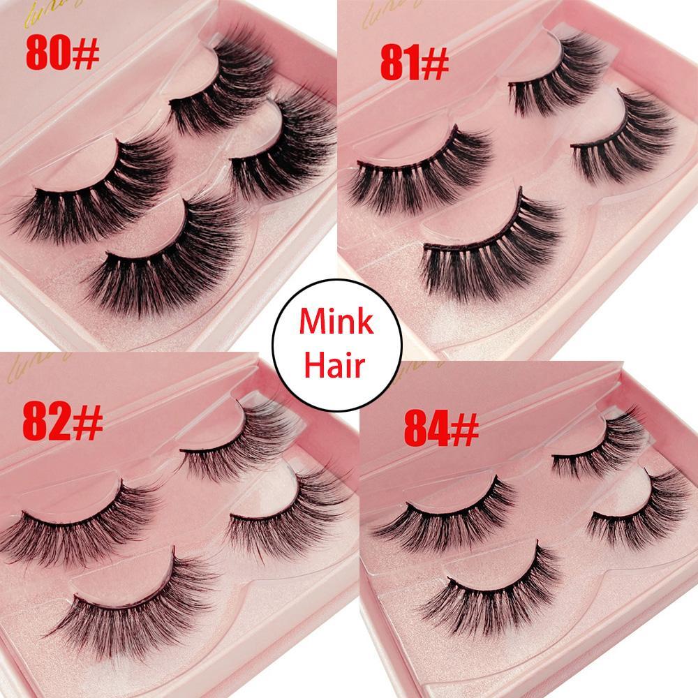 44b6c046389 3D Mink Hair Natural Long False Eyelashes Wispy Cross Flutter Lashes  Extension Tools Handmade Lashes Makeup How To Remove False Eyelashes Kiss  Eyelashes ...