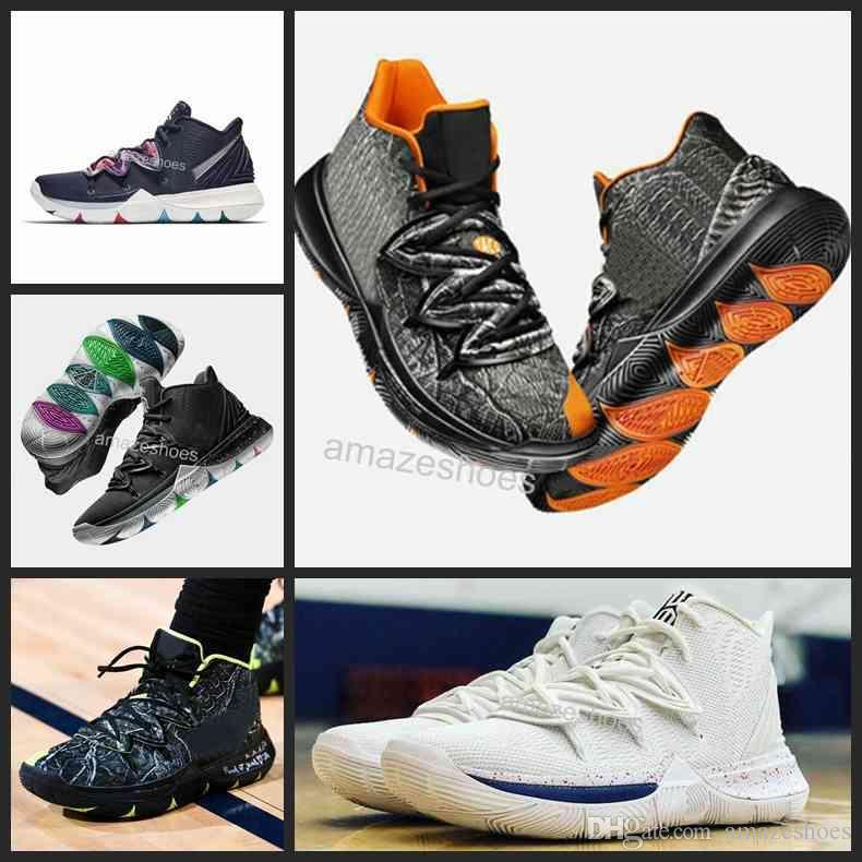 cheaper 5a9a3 29de6 Nuevo Diseñador Para Hombre Kyrie 5 Taco Black Magic 5s Blanco Zapatos De  Baloncesto Irving 5 3M Zapatillas De Deporte Para Hombre Zapatillas 7 12  Por ...