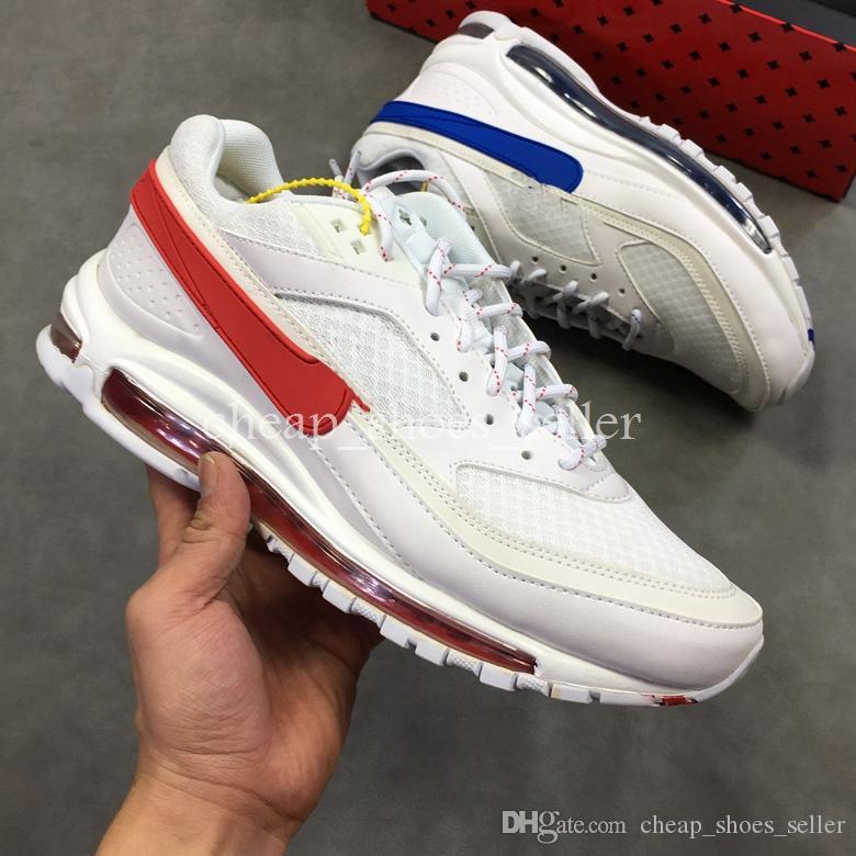 online store 8846f fc406 Nike Air Max 97 Shoes 2019 Nuevo 97 BW X Skepta Rojo Azul Bronce Metálico  Plateado Violeta Zapatillas Para Correr 97s Zapatillas De Deporte Ultra  Zapatillas ...