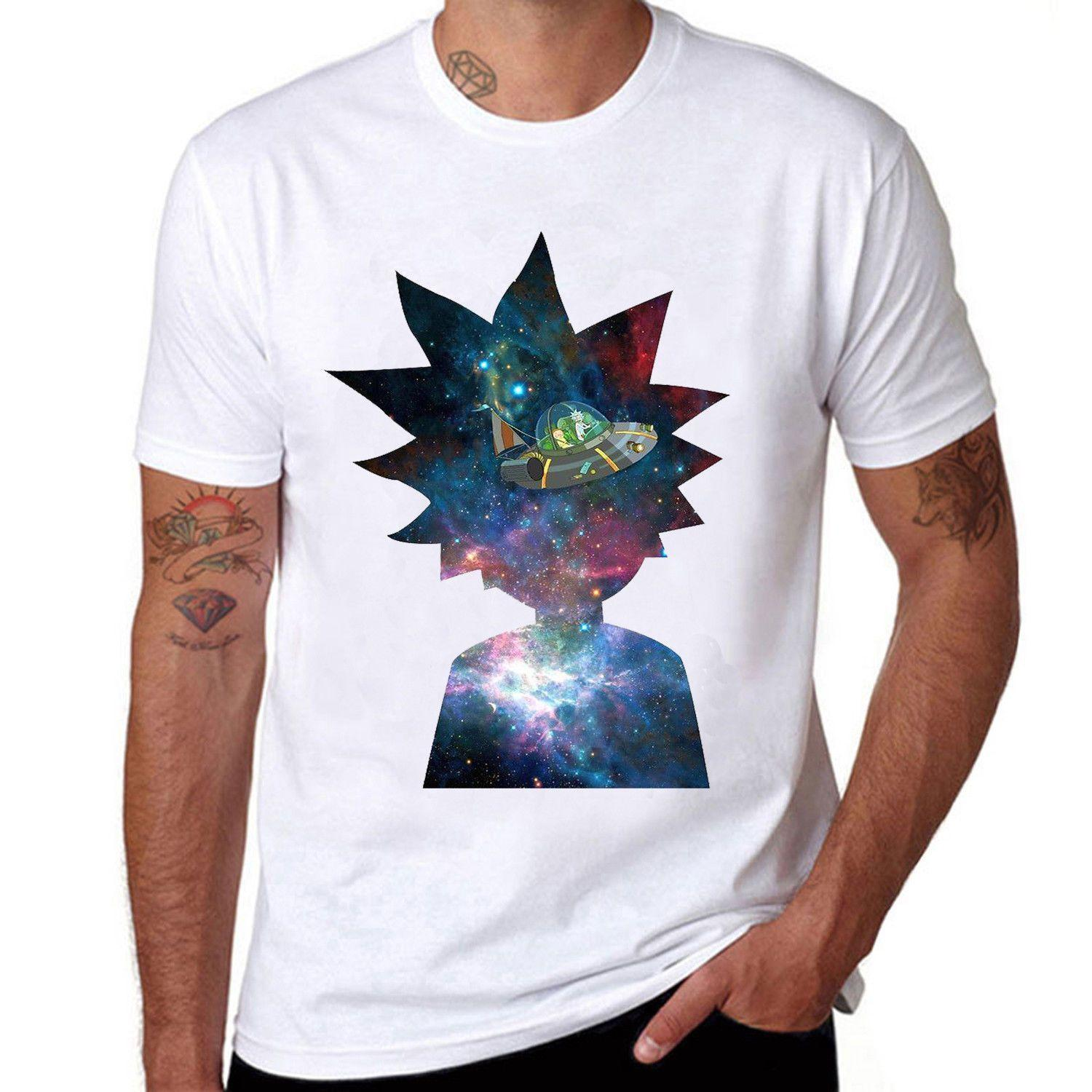 718c5d29 RICK & MORTY Spaceship Men T ShirtFunny Unisex Casual Tshirt Top Now T  Shirts Deal With It T Shirt From Pepitaprint, $10.28  DHgate.Com