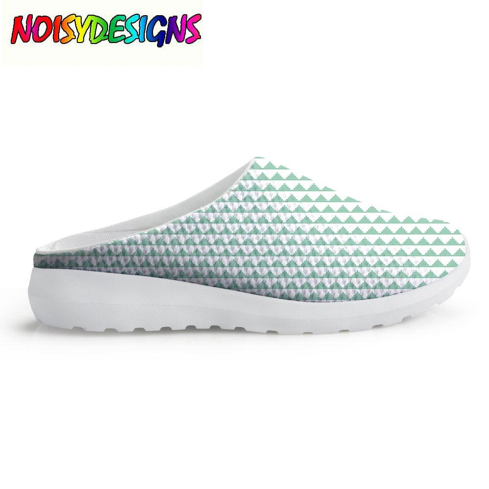 Playa Slip Vintage Resbalón On De En Impreso Malla Zapatos Mujer Decorativa Sandalias Marroquí Lila Señoras Menta Verano OnPw0Xk8