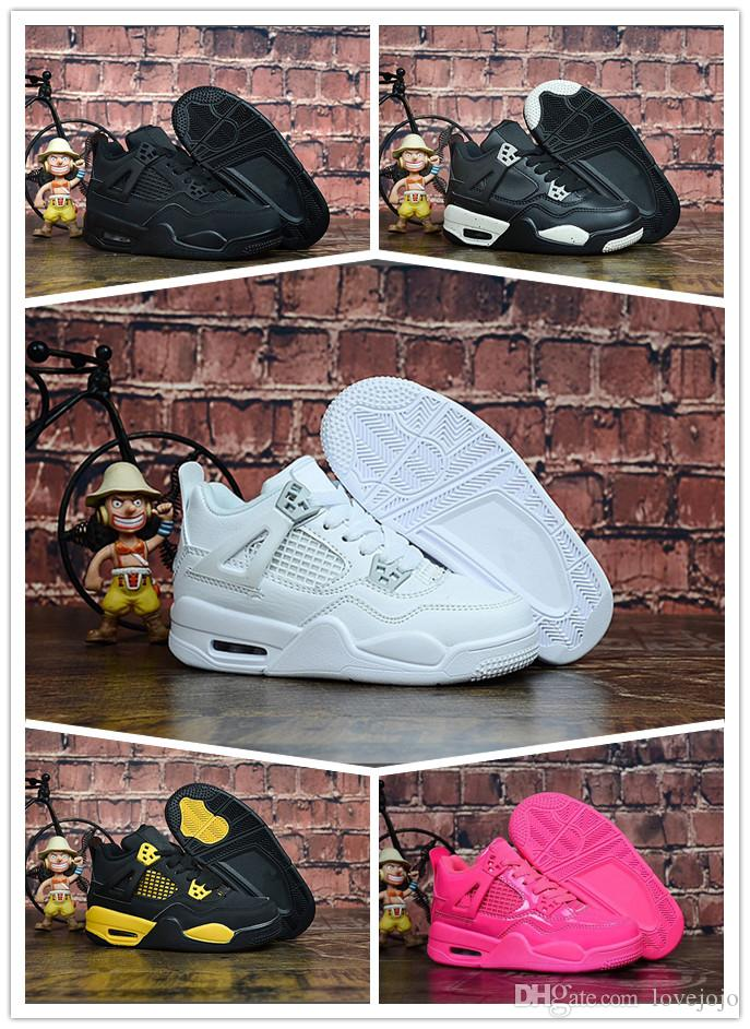 Nouveaux Basket Chaussures 4s Jordan Aj4 4 De Air Nike Garçons 2019 Basketball Filles Sports Sneakers Et Enfants ChxsBtrdQ