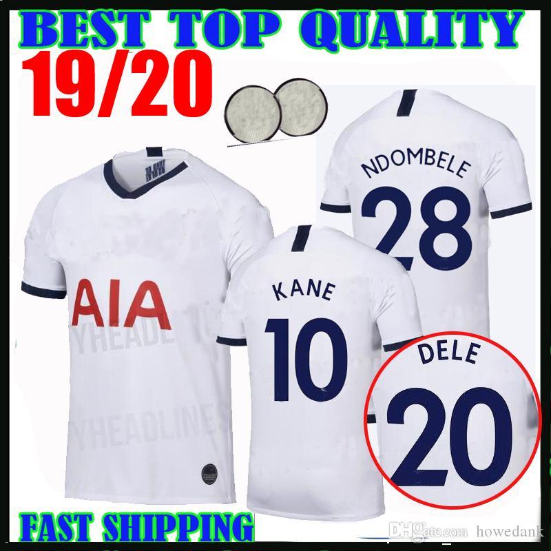 new arrival 05b3f 59988 19 20 Tottenham KANE soccer jerseys spurs 2019 2020 LUCAS NDOMBELE ERIKSEN  DELE SON Football shirts kit Men kids uniforms champions league