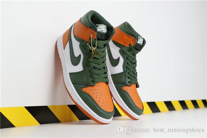 buy popular 5855c 67909 Scarpe Dimagranti 2019 SoleFly X Jumpman 1 High OG Nero Retros Team Orange  Fir Green Scarpe Da Basket AV3905 038 Retro 1s Mens Sneakers Sportive Da ...
