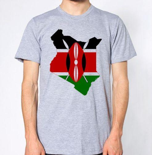 Kenya New T-Shirt Country Flag Top City Map Funny free shipping Unisex  Casual
