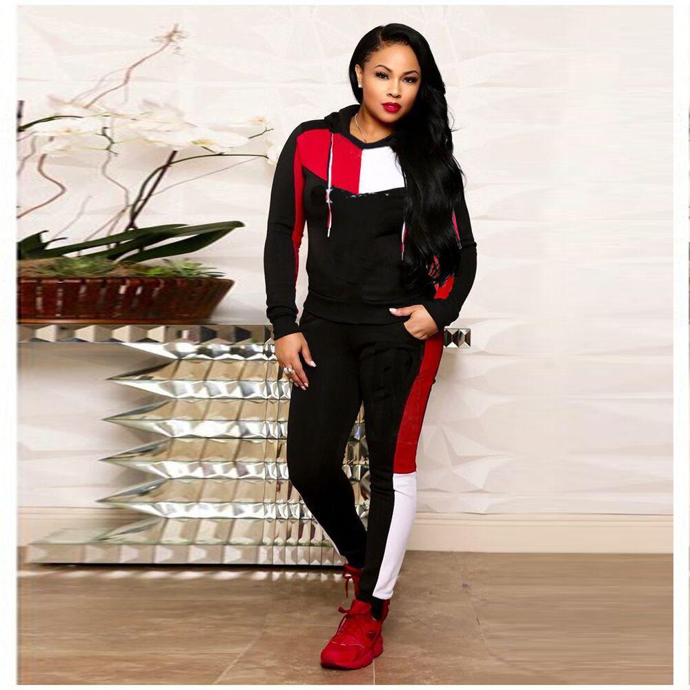 Acquista Abbigliamento Firmato Da Donna Abbigliamento Felpa Con Cappuccio  Top E Pantaloni Leggings C Lettere Tuta Da Ginnastica 2 Pezzi Completi ... 9f75419f2e6