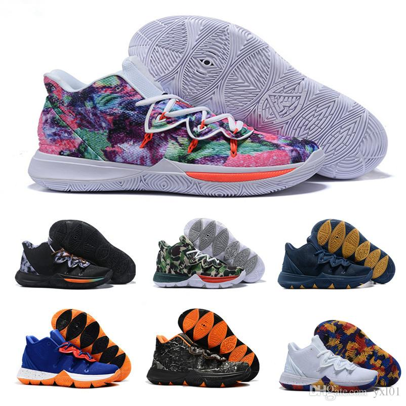 dce1cf85c4fc 2019 New Concepts X Kyrie5 V Irving 5 PE Neon Blends Ikhet Taco Mens  Basketball Shoes For Top Quality 5s Sports Sneakers Size40 46 Shoes For  Sale Baseball ...