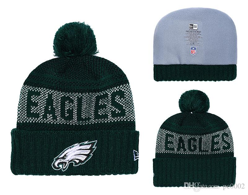 2019 Men S Philadelphia Eagles New Green 2018 Sideline Cold Weather  Official Gray Black Super Bowl LII Champions Parade Cuffed Pom Sport Knit  Hat From ... 9f00b7e0d69
