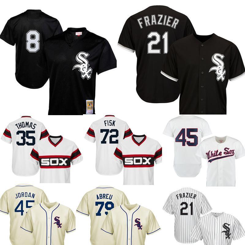 newest 99793 60c50 Chicago 8 Bo Jackson White Sox Baseball Jerseys 21 Todd Frazier 35 Frank  Thomas 79 Jose Abreu 10 Yoan Moncada 45 Michael 72 Carlton Fisk