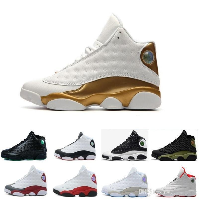 Zapatos Hombres mujeres Baloncesto Barato 13 13s blanco negro gris verde azulado negro Marrón Cap and Gown Captain America Chicago Sports Sneakers