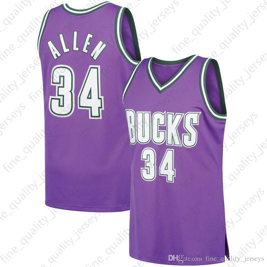 fb54a617e 2019 Purple Ray 34 Allen Giannis 34 Antetokounmpo  City Milwaukee  Basketball Jerseys 6 Bledsoe  Eric Bucks Mesh Retro Fast Shipping From ...