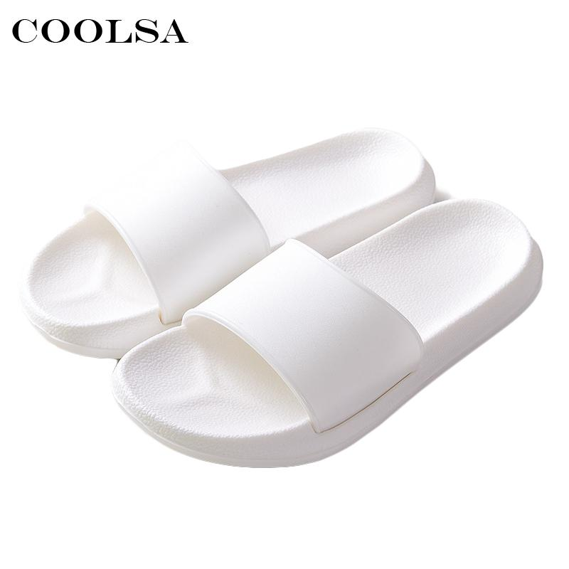 f5dab29b27ee 2018 Hot New Summer Women Flip Flops Black White Solid Slides EVA Flat Non  Slip Indoor Slippers Unisex Sandals Couple Beach Shoe Boots Shoes Green  Shoes ...