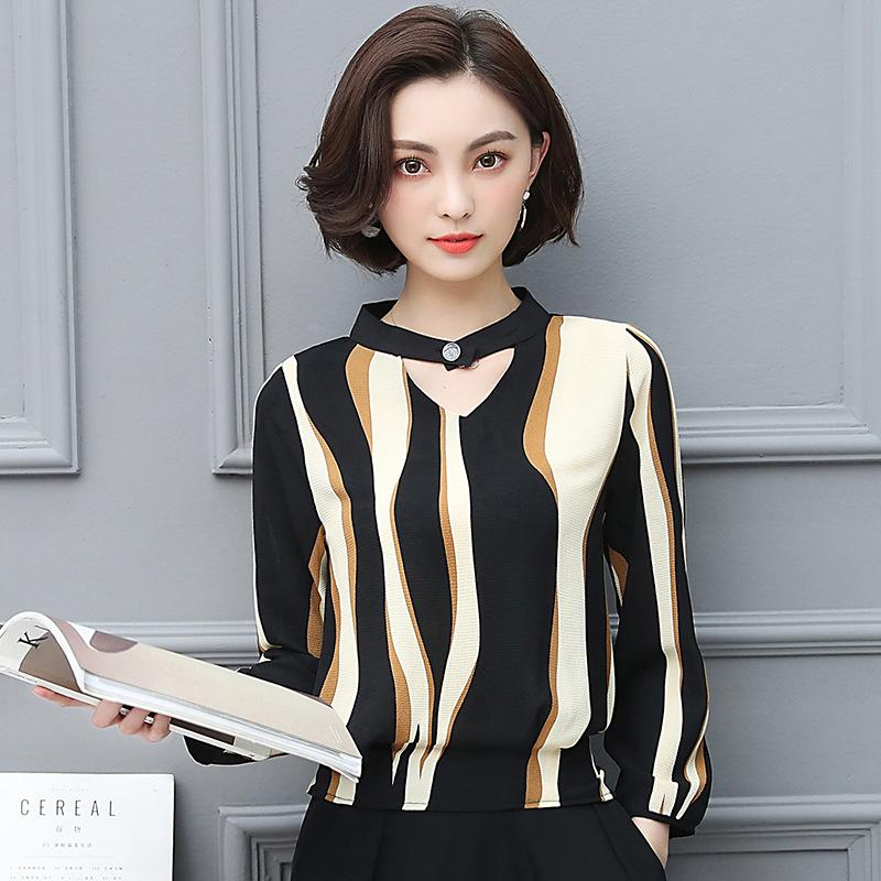 2019 Chiffon Blouse Female The Spring New 2019 New Trend Printing