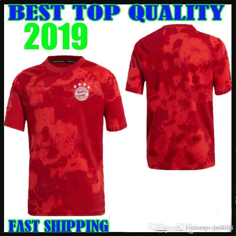best service 02607 ae1bd 19 20 Bayern Munich training shirts Jersey home LEWANDOWSKI MULLER 2018  2019 red white pre match jerseys HUMMELS TOLISSO JAMES training wear