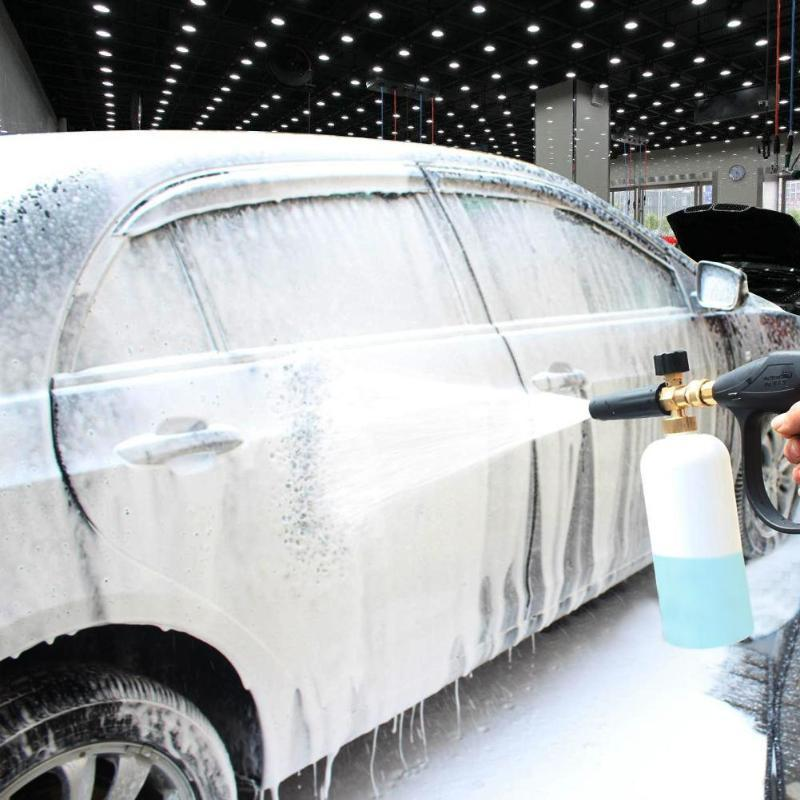 Foam Spray Car Wash >> Car Wash Foam Gun High Pressure Washer Foamer Generator Water Sprayer Gun Car Styling Cleaning Foam Lance Jet For Karcher