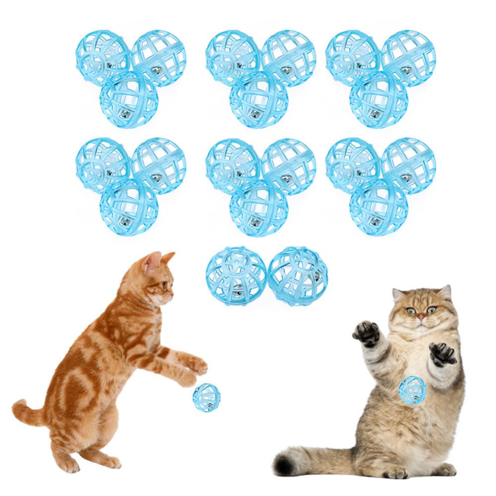 Cat Products 20pcs Pet Dog Cat Toys Transparent Plastic Ball Sound Toy For Cat Kitten Pets Training Supplies