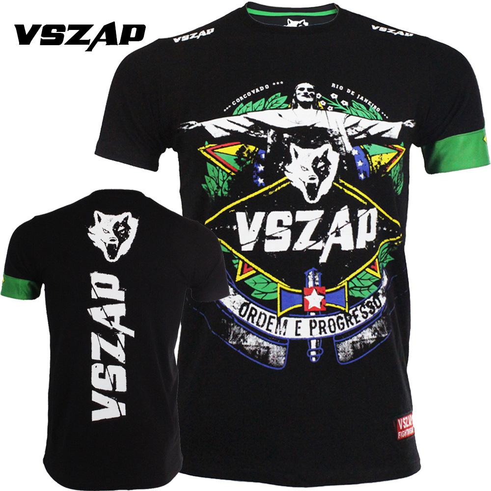 buy popular ad5fe 214a1 VSZAP MMA UFC Shirt muaythai Short sleeve T-shirt Fighting training Fitness  Jujitsu Wrestle Short sleeve Sweat