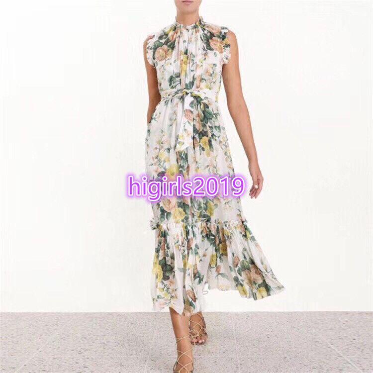 c2707b216c 2019 Women Girls Vest Mermaid Dress With Floral Print Crew Neck ...