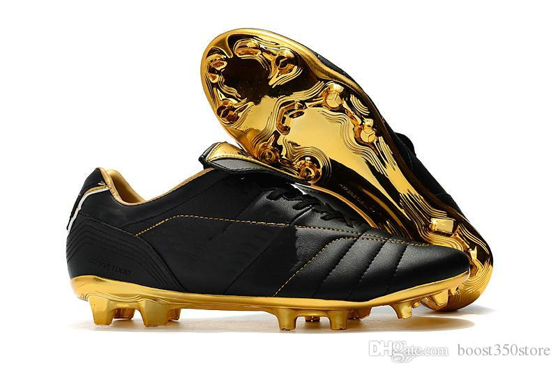 competitive price 64fdb 1b9b6 2018 Hot low ankle Black Gold Soccer Shoes Tiempo Legend 7 R10 Elite  Plating FG Football boots size EUR39-45