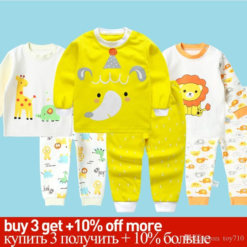 9ac9d4143d2b4 Acheter Pyjamas Enfants Enfants Enfants Toddler Garçons Vêtements Ensemble  Bébé Garçons Vêtements Ensembles Enfants Vêtements De Nuit Vêtements  D hiver ...