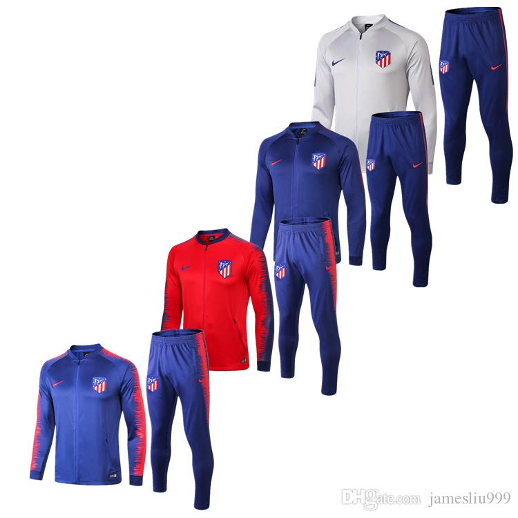 2019 Camiseta De Mangas Largas Futbol Atletico Uniforme ... 8ea0e7656a0