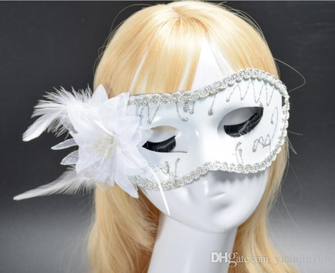Flat-headed Painted Mask Prince Mask Lady Half Face New Wholesale Multicolored Optional Flower Mask W1227