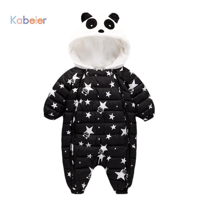 1d796d23905b 2019 Jumpsuit Autumn Winter Snow Suit Jacket Kids Newborn Infant Baby  Animal Toddler Baby Down Cotton Cartoon Rompers 6 9 12 18 24M From  Usefully11
