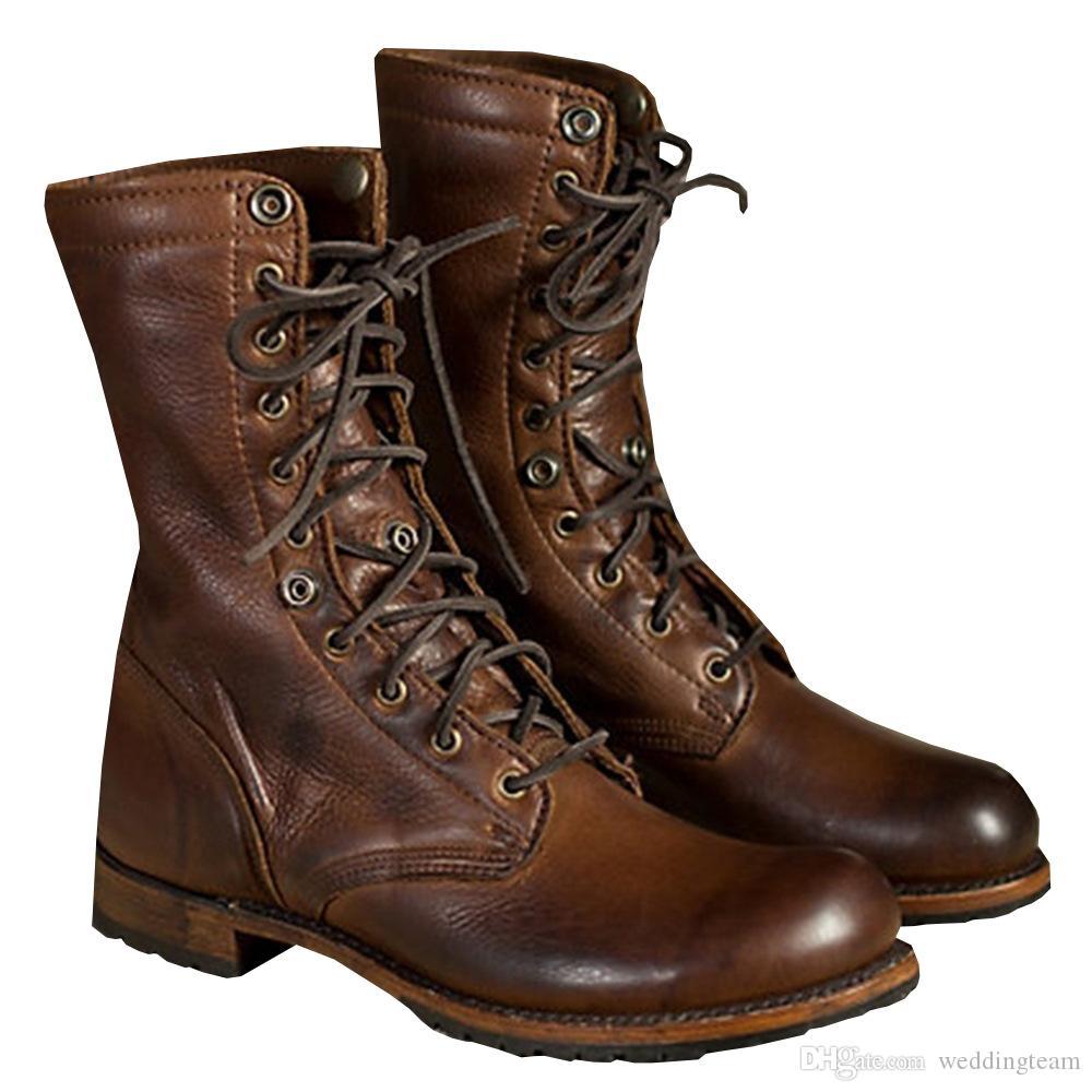 3f233ebc705 Compre Diseñador De Moda Botas Para Hombre Marrón Punta Redonda Zapatos  Martin Casual Botas Suela De Goma Hombres Short Tobillo Bota De Moto A   56.39 Del ...