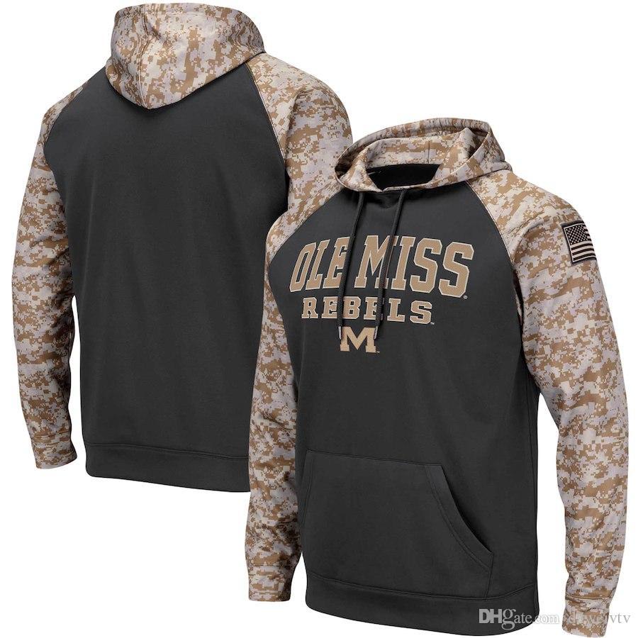 3bbd19b0 Ole Miss Rebels Colosseum Men's Sweatshirt United We Stand Pullover Hoodie  Charcoal