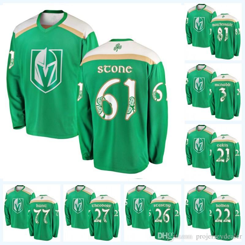 huge discount 1fa86 8f4cf 61 Mark Stone Vegas Golden Knights 2019 St. Patrick s Day 77 Brad Hunt  Jonathan Marchessault Cody Eakin Paul Stastny Ryan Carpenter Jersey