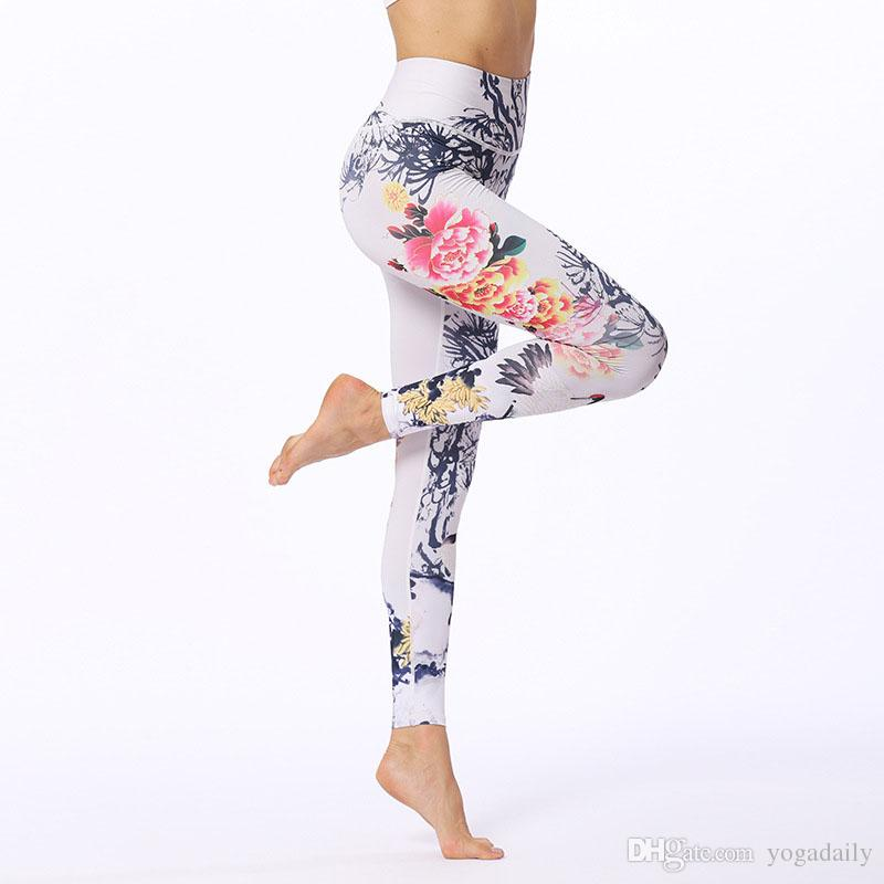 3a8d56c7c6b5b8 2019 Chinese Pattern Printed Yoga Tights Lightweight High Elastic ...