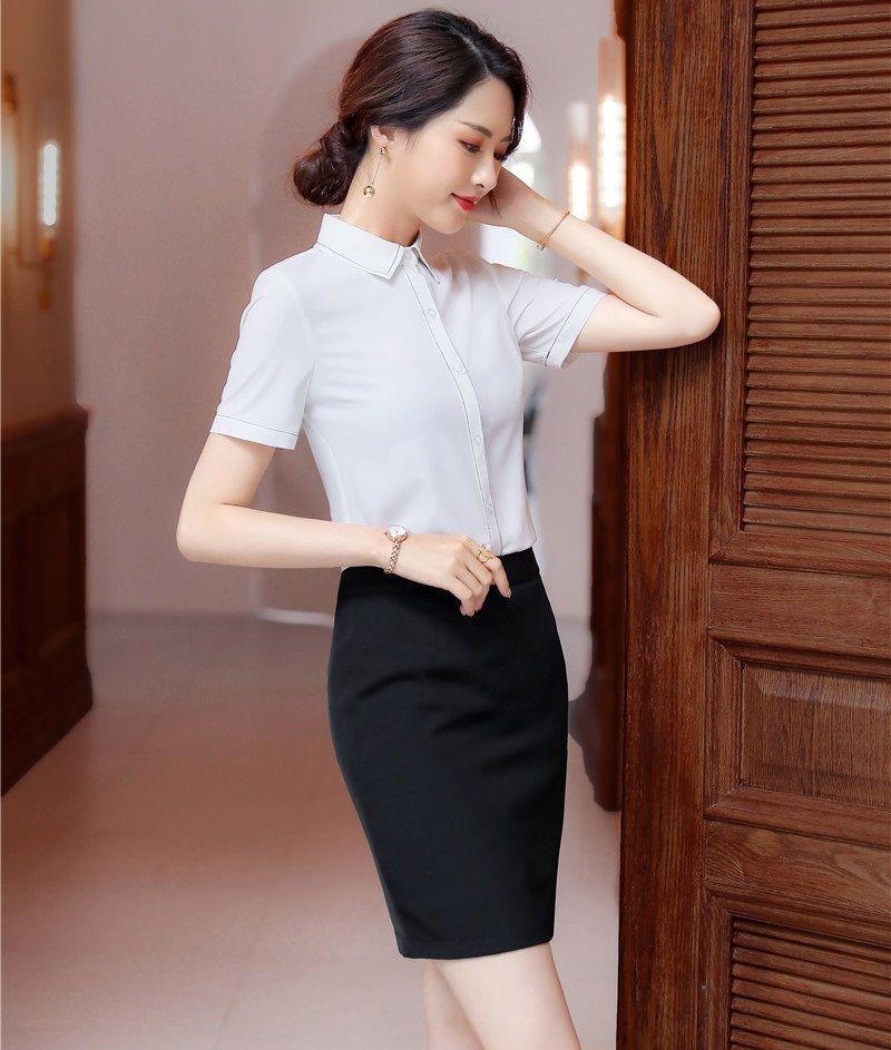 e98ec7df9 Trajes de negocios de mujeres formales con falda y tops 2019 Primavera  Verano Para damas Ropa de oficina Vestidos Blusas y camisas Conjuntos